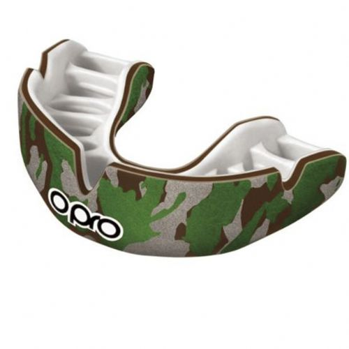 Opro Power-Fit Camo Mouthguard - Brown/Green/Silver